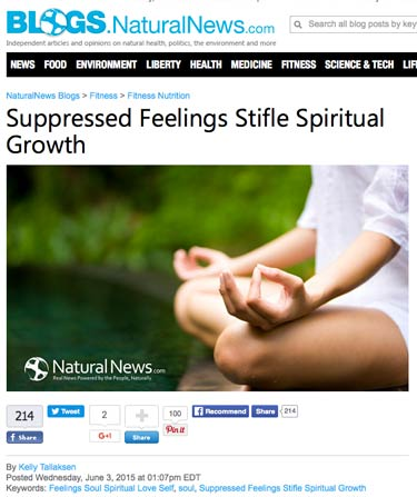 Natural News Article by Kelly Screen Shot